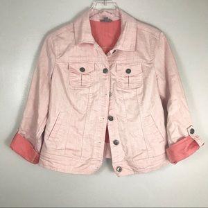 Roz & Ali Faded Pink Lightweight Jean Jacket